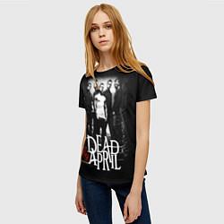 Футболка женская Dead by April: Dark Rock цвета 3D — фото 2