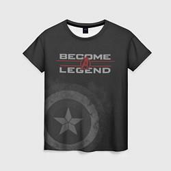 Футболка женская Capt America: Become a Legend цвета 3D — фото 1