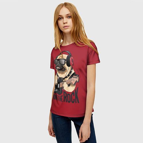 Женская футболка On the rock / 3D-принт – фото 3