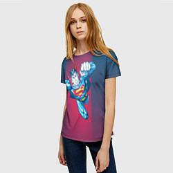 Футболка женская Superman цвета 3D — фото 2