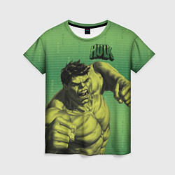 Футболка женская Hulk цвета 3D-принт — фото 1