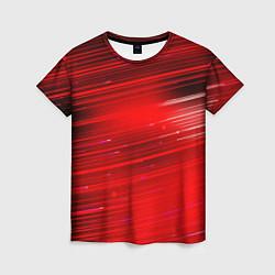 Футболка женская Красный свет цвета 3D — фото 1