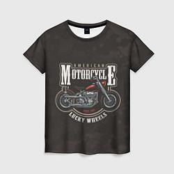 Футболка женская American Motorcycle Z цвета 3D — фото 1