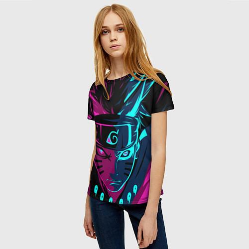 Женская футболка Неоновый НАРУТО / 3D – фото 3