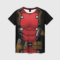 Футболка женская Deadpool цвета 3D-принт — фото 1