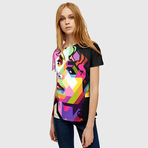 Женская футболка Michael Jackson Art / 3D – фото 3