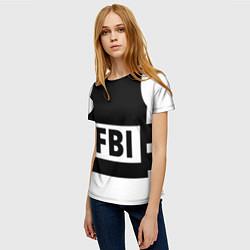 Футболка женская Бронежилет FBI цвета 3D — фото 2