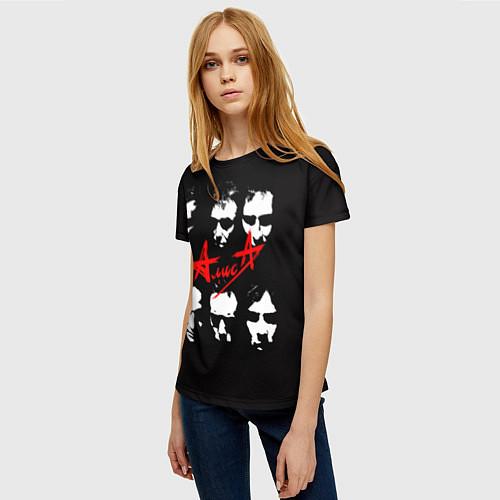 Женская футболка Группа АлисА / 3D – фото 3