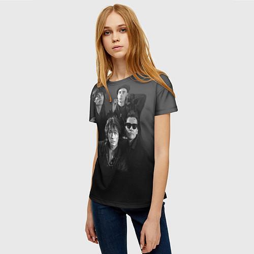 Женская футболка Группа Кино / 3D – фото 3