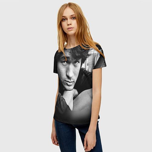 Женская футболка Виктор Цой / 3D – фото 3
