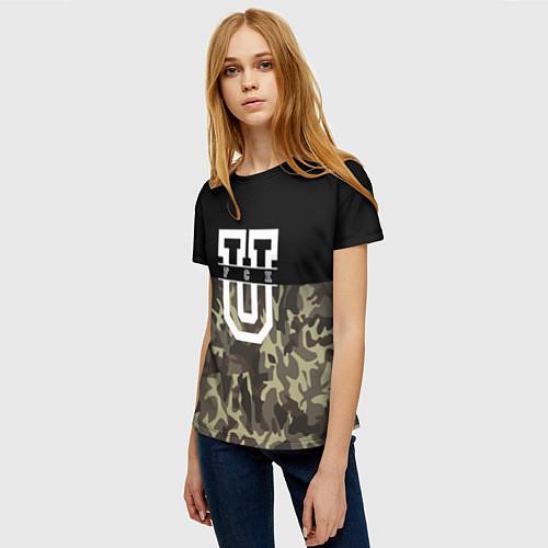 Женская футболка FCK U: Camo / 3D – фото 3