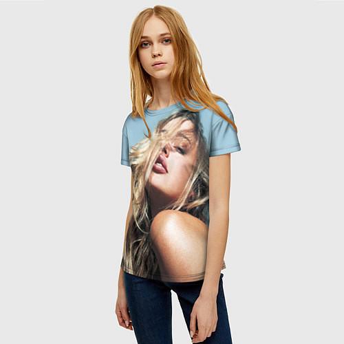 Женская футболка Страстная девушка, красивая / 3D – фото 3