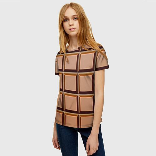 Женская футболка Шоколад / 3D – фото 3