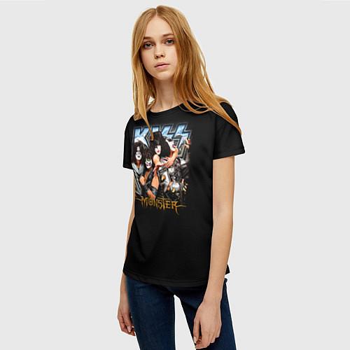 Женская футболка Kiss Monster / 3D – фото 3