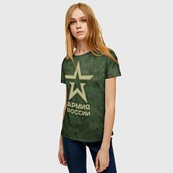Футболка женская Армия России цвета 3D — фото 2
