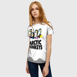 Футболка женская Arctic Monkeys: Music Wave цвета 3D-принт — фото 2