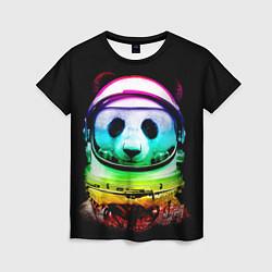 Футболка женская Панда космонавт цвета 3D — фото 1