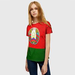 Футболка женская Герб Беларуси цвета 3D — фото 2
