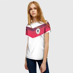 Футболка женская Сборная Германии по футболу цвета 3D — фото 2