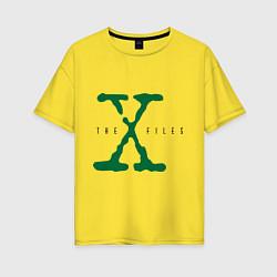 Футболка оверсайз женская The X-files цвета желтый — фото 1