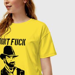 Футболка оверсайз женская Dont Fuck With Chuck цвета желтый — фото 2