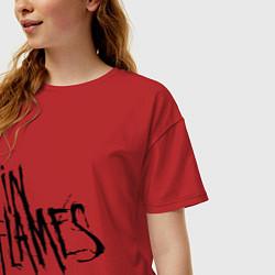 Футболка оверсайз женская In Flames цвета красный — фото 2