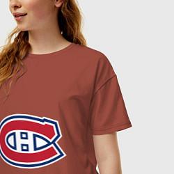 Футболка оверсайз женская Montreal Canadiens цвета кирпичный — фото 2