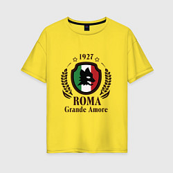 Футболка оверсайз женская AS Roma: Grande Amore цвета желтый — фото 1