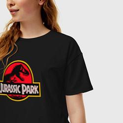 Футболка оверсайз женская Jurassic Park цвета черный — фото 2