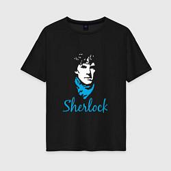 Футболка оверсайз женская Sherlock цвета черный — фото 1