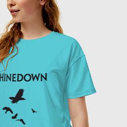 Футболка оверсайз женская Shinedown: Sound of Madness цвета бирюзовый — фото 2