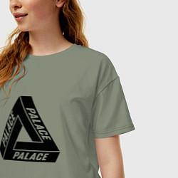 Футболка оверсайз женская Palace Triangle цвета авокадо — фото 2