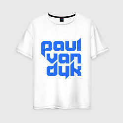 Футболка оверсайз женская Paul van Dyk: Filled цвета белый — фото 1