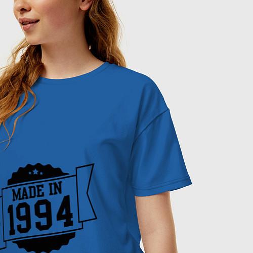 Женская футболка оверсайз Made in 1994 / Синий – фото 3