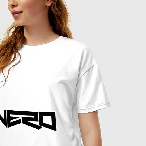 Женская футболка оверсайз Nero / Белый – фото 3