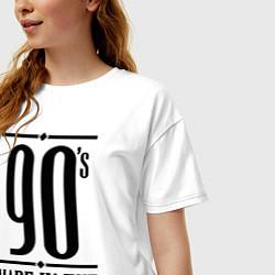 Футболка оверсайз женская Made in the 90s цвета белый — фото 2