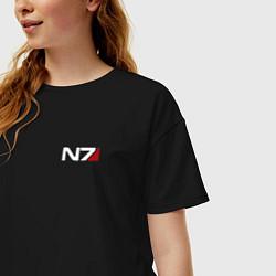 Футболка оверсайз женская Mass Effect N7 цвета черный — фото 2