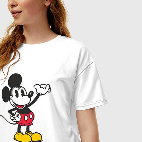 Женская футболка оверсайз Микки Маус / Белый – фото 3
