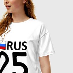 Футболка оверсайз женская RUS 25 цвета белый — фото 2