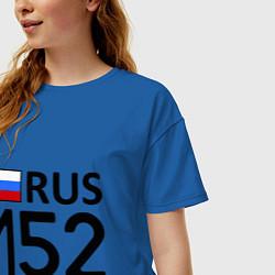 Футболка оверсайз женская RUS 152 цвета синий — фото 2