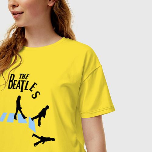 Женская футболка оверсайз The Beatles: break down / Желтый – фото 3