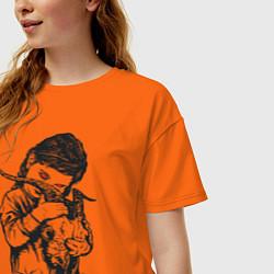 Футболка оверсайз женская Chelsea Grin: Demon Girl цвета оранжевый — фото 2