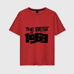 Футболка оверсайз женская The best of 1969 цвета красный — фото 1