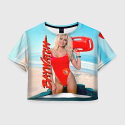 Футболка 3D укороченная женская Baywatch: Pamela Anderson цвета 3D — фото 1
