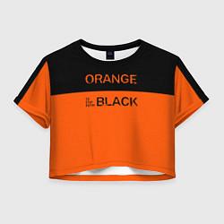 Футболка 3D укороченная женская Orange Is the New Black цвета 3D — фото 1