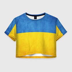 Футболка 3D укороченная женская Украина цвета 3D — фото 1