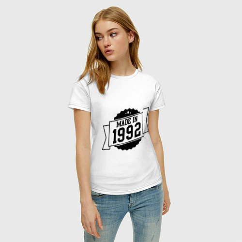 Женская футболка Made in 1992 / Белый – фото 3