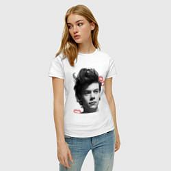 Футболка хлопковая женская Harry Styles цвета белый — фото 2