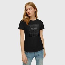 Футболка хлопковая женская The Killers цвета черный — фото 2