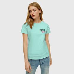 Футболка хлопковая женская Dream Team logo цвета мятный — фото 2